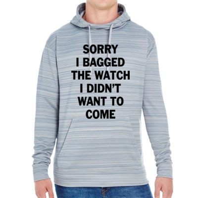 Sorry I Bagged the Watch I Didn't Want to Come - JAmerica Unisex Poly Fleece Striped Pullover Hoodie Thumbnail