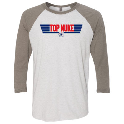 Top Nuke - Unisex Tri-Blend Three-Quarter Sleeve Baseball Raglan Tee Thumbnail