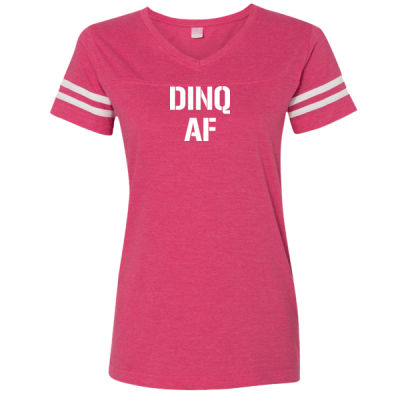 DINQ AF - LAT Ladies' Football Fine Jersey T-Shirt Thumbnail