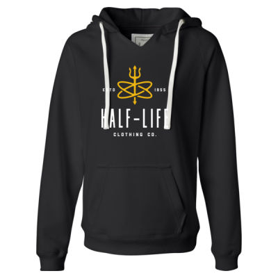 Half-Life Clothing Company - Ladies' Sueded V-Neck Hooded Sweatshirt Thumbnail