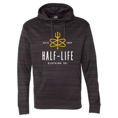 Half-Life Clothing Company - Striped Poly Fleece Hooded Pullover Sweatshirt Thumbnail