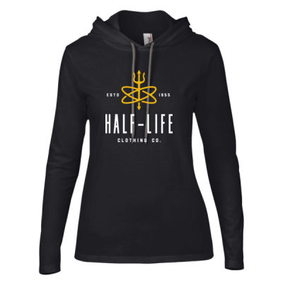 Half-Life Clothing Company - Ladies' Lightweight Long-Sleeve Hooded T-Shirt Thumbnail