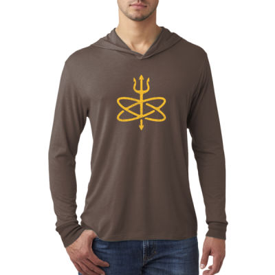 Atomic Trident of Poseidon - Adult Triblend Long-Sleeve Hoody Thumbnail