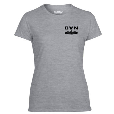 Ford Class Aircraft Carrier (SW) - Light Ladies Ultra Performance Active Lifestyle T Shirt Thumbnail