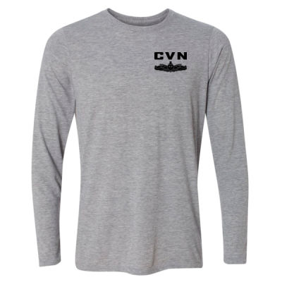 Ford Class Aircraft Carrier (SW) - Light Long Sleeve Ultra Performance Active Lifestyle T Shirt Thumbnail