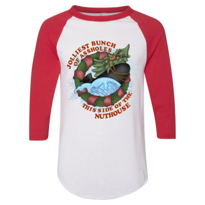 USS Griswold Jolliest Bunch of Assholes this side of the Nuthouse - Adult 3/4-Sleeve Baseball Jersey (S) Thumbnail