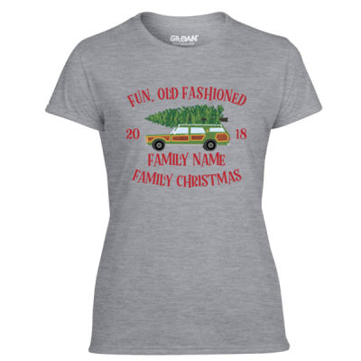 Fun, Old Fashioned Family Christmas  - Light Ladies Ultra Performance Active Lifestyle T Shirt Thumbnail