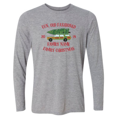 Fun, Old Fashioned Family Christmas  - Light Long Sleeve Ultra Performance Active Lifestyle T Shirt Thumbnail