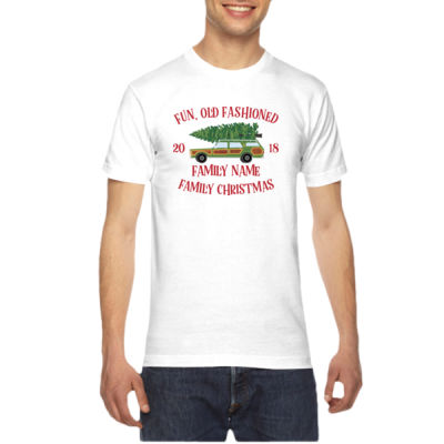 Fun, Old Fashioned Family Christmas  - American Apparel Unisex T-Shirt Thumbnail