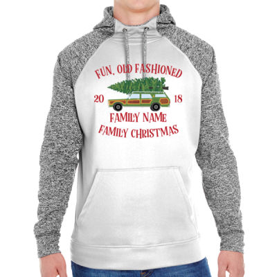 Fun, Old Fashioned Family Christmas  - Adult Colorblock Cosmic Pullover Hood (S)  Thumbnail