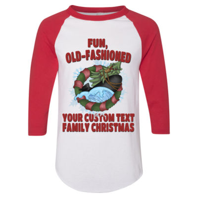 USS Griswold Fun, Old-Fashioned Christmas  - Adult 3/4-Sleeve Baseball Jersey (S) Thumbnail