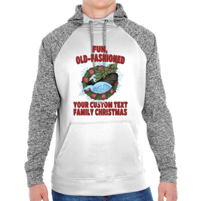 USS Griswold Fun, Old-Fashioned Christmas  - Adult Colorblock Cosmic Pullover Hood (S)  Thumbnail