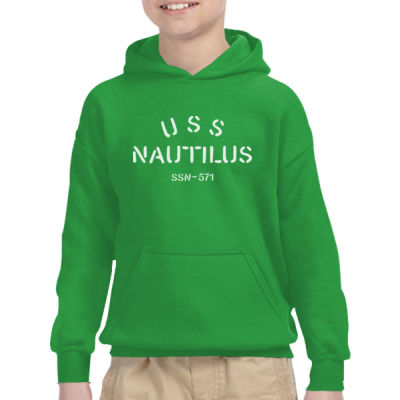 USS Nautilus - Underway on Nuclear Power - Heavy Blend™ Youth 8 oz., 50/50 Hood Thumbnail