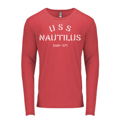 USS Nautilus - Underway on Nuclear Power - Men's Triblend Long-Sleeve Crew Thumbnail