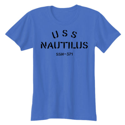 USS Nautilus - Underway on Nuclear Power - Ladies' Softstyle® 4.5 oz. Fitted Heather Color T-Shirt Thumbnail