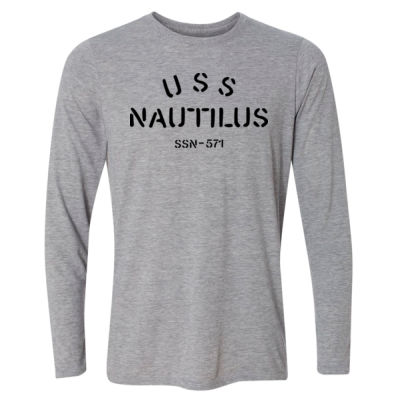 USS Nautilus - Underway on Nuclear Power - Light Long Sleeve Ultra Performance Active Lifestyle T Shirt Thumbnail