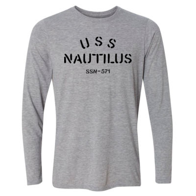 USS Nautilus - Underway on Nuclear Power - Light Youth Long Sleeve Ultra Performance Active Lifestyle T Shirt Thumbnail