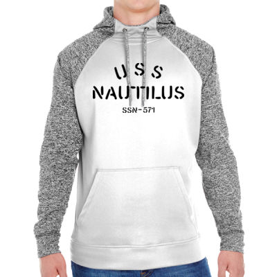 USS Nautilus - Underway on Nuclear Power - Adult Colorblock Cosmic Pullover Hood (S)  Thumbnail