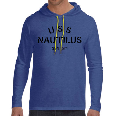 USS Nautilus - Underway on Nuclear Power - Adult Lightweight Long-Sleeve Hooded T-Shirt Thumbnail