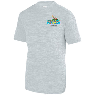 NNPS Alumnus with Poseiden & Class Number - Adult Shadow Tonal Heather Short-Sleeve Training T-Shirt Thumbnail