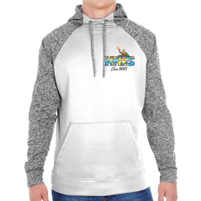 NNPS Alumnus with Poseiden & Class Number - Adult Colorblock Cosmic Pullover Hood (S)  Thumbnail