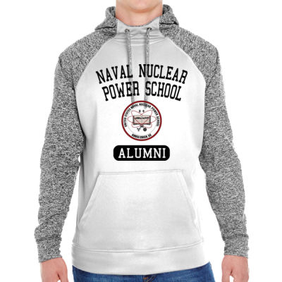Naval Nuclear Power School Goose Creek, SC Alumni (Vertical) - Adult Colorblock Cosmic Pullover Hood (S)  Thumbnail