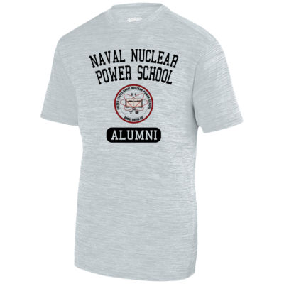 Naval Nuclear Power School Goose Creek, SC Alumni (Vertical) - Adult Shadow Tonal Heather Short-Sleeve Training T-Shirt Thumbnail