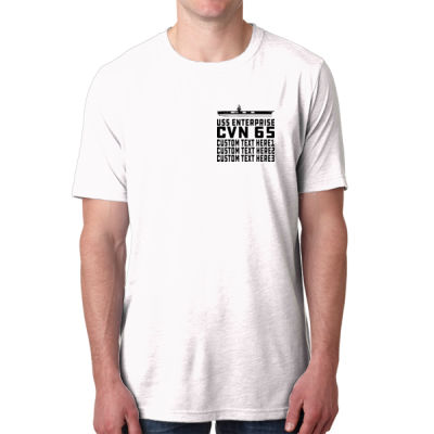 Personalized USS Enterprise with '82-2012 Island - Men's Poly/Cotton Short-Sleeve Crew Tee Thumbnail