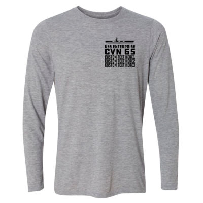 Personalized USS Enterprise with '82-2012 Island - Light Long Sleeve Ultra Performance Active Lifestyle T Shirt Thumbnail