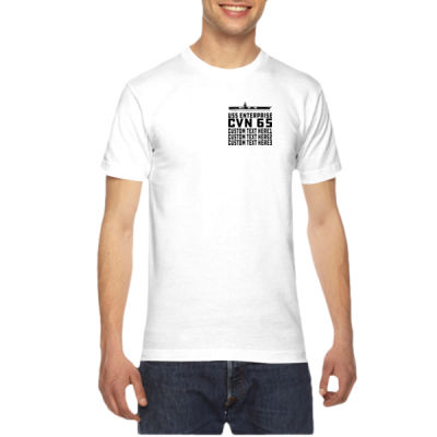 Personalized USS Enterprise with '82-2012 Island - American Apparel Unisex T-Shirt Thumbnail