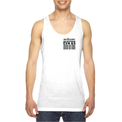 Personalized USS Enterprise with '82-2012 Island - American Apparel Unisex Sublimation Tank Thumbnail