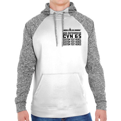 Personalized USS Enterprise with '82-2012 Island - Adult Colorblock Cosmic Pullover Hood (S)  Thumbnail