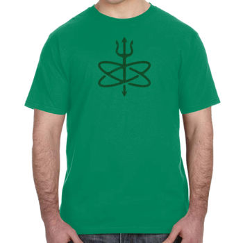 St. Patrick's Day Four Leaf Atomic Trident of Poseidon - Lightweight T-Shirt Thumbnail