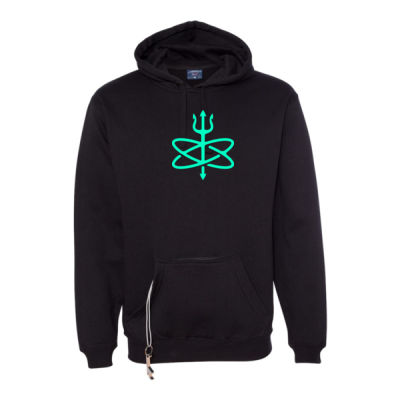 Glow in the Dark Atomic Trident of Poseidon - Tailgate Hoodie with Beverage Insulator & Bottle Opener Thumbnail