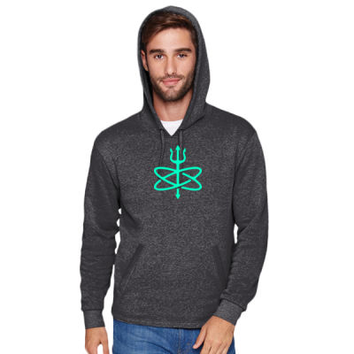 Glow in the Dark Atomic Trident of Poseidon - Adult PCH Pullover Hoody Thumbnail