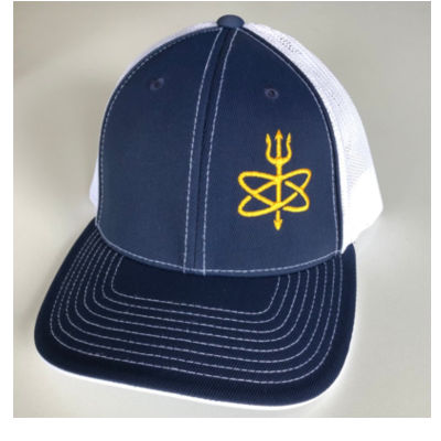 Atomic Trident of Poseidon - Fitted Trucker Mesh Hat Thumbnail