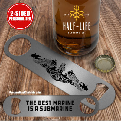 The Best Marine is a Submarine - Pub Style Stainless Steel Bottle Opener Thumbnail