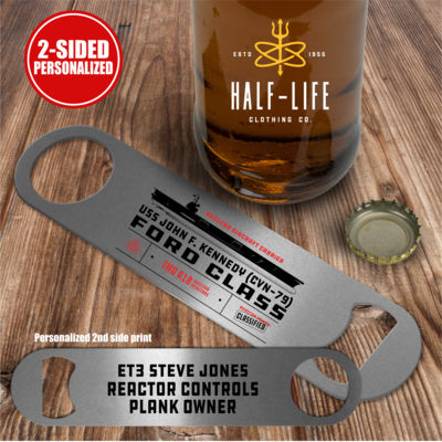 Personalized Ford Class Aircraft Carrier - 2 sided - Pub Style Stainless Steel Bottle Opener Thumbnail
