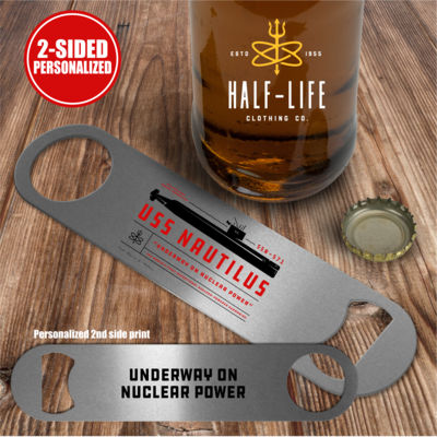 Nautilus Underway on Nuclear Power - Pub Style Stainless Steel Bottle Opener Thumbnail