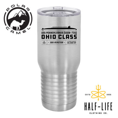 Ohio Class Ballistic Submarine - Polar Camel 20 oz. Tall Stainless Steel Vacuum Insulated Tumbler  Thumbnail