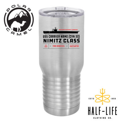 Nimitz Class Aircraft Carrier - Polar Camel 20 oz. Tall Stainless Steel Vacuum Insulated Tumbler Thumbnail