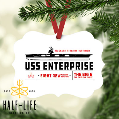 USS Enterprise with '82-2012 Island - Benelux Christmas Ornament (HLCC) Thumbnail