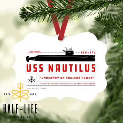 USS Nautilus - Underway on Nuclear Power - Benelux Christmas Ornament (HLCC) Thumbnail