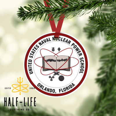 Naval Nuclear Power School (NNPS) Orlando Alumni - Round Christmas Ornament (HLCC) Thumbnail