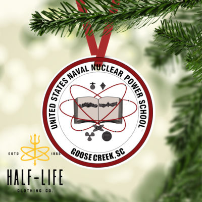 Naval Nuclear Power School (NNPS) Goose Creek Alumni - Round Christmas Ornament (HLCC) Thumbnail