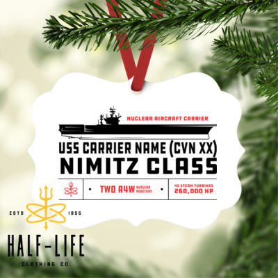 Custom Personalized Nimitz Class Carrier - Benelux Christmas Ornament (HLCC) Thumbnail