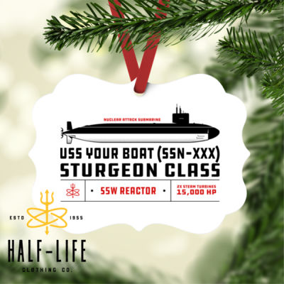Custom Personalized Sturgeon Class Attack Submarine - Benelux Christmas Ornament (HLCC) Thumbnail