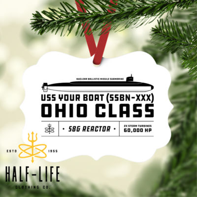 Custom Personalized Ohio Class SSBN - Benelux Christmas Ornament (HLCC) Thumbnail