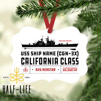 Custom personalized California Class Cruiser - Benelux Christmas Ornament (HLCC) Thumbnail
