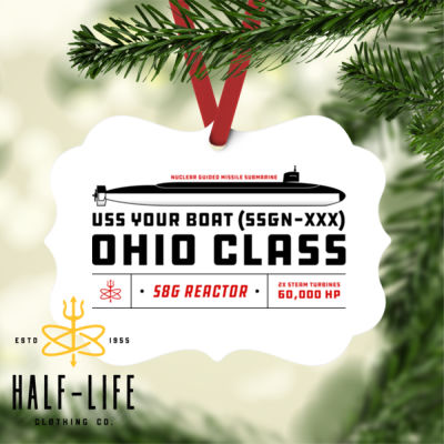 Custom Personalized Ohio Class SSGN - Benelux Christmas Ornament (HLCC) Thumbnail